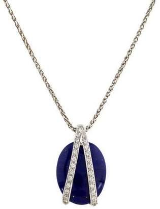 Lapis 18K Lazuli & Diamond Pendant Necklace