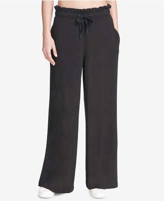 DKNY Sport Ruffled Wide-Leg Pants