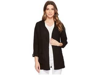 Three Dots Woven Linen Blazer Women's Jacket