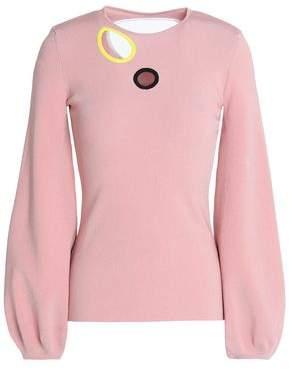 Roksanda Cutout Stretch-Knit Sweater