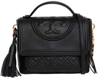 Tory Burch Flaming Quilted Leather Satchel Bag
