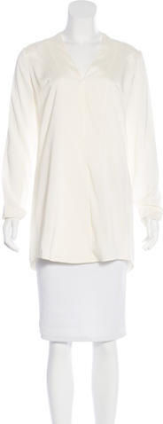 Alexander Wang T by Alexander Wang Silk Long Sleeve Top w/ Tags