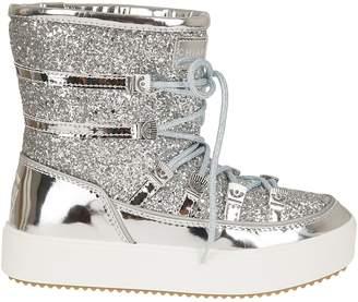 Chiara Ferragni Glitter Lace-up Snow Boots
