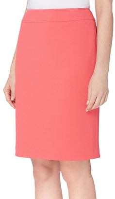 Tahari Arthur S. Levine Solid Pique Pencil Skirt $69 thestylecure.com