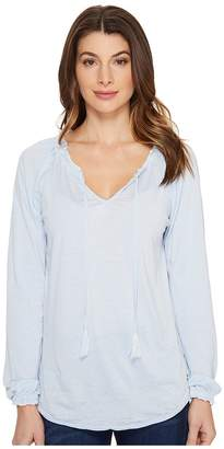 Jag Jeans Peasant Tee in Burnout Jersey Women's T Shirt