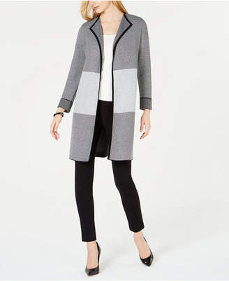 Kasper Colorblocked Roll-Cuff Jacket
