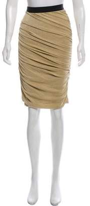 Dolce & Gabbana Ruched Metallic Skirt