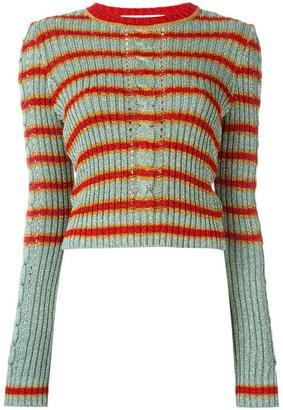 Philosophy Di Lorenzo Serafini striped jumper $525 thestylecure.com