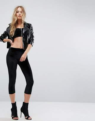 Club L Cropped Velvet Legging