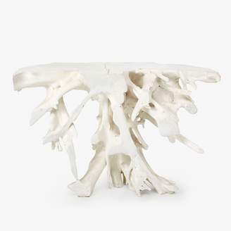 ABC Home Teak Root Console White