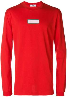 MSGM colour-block fitted sweatshirt
