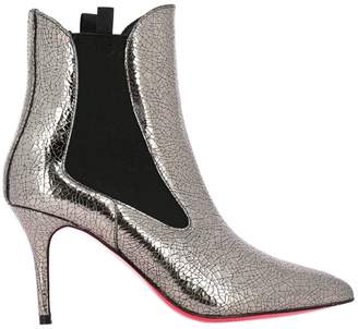 Pinko Heeled Booties Bracciano 1 Ankle Boots In Craquelé Patent Leather With Elastic Bands
