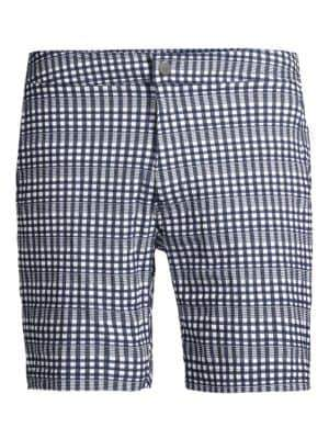 Onia Calder Check Swim Trunks