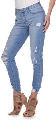 JLO by Jennifer Lopez Women's Skinny Ankle-Zip Jeans