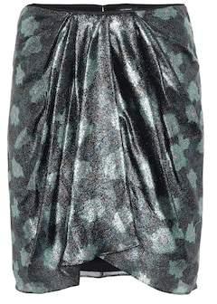 Isabel Marant Paris printed silk-blend miniskirt
