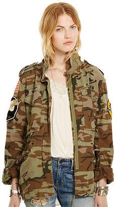 Ralph Lauren Denim & Supply Camo Patch Field Jacket $225 thestylecure.com