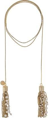 Silvia Gnecchi fringe wrap around necklace