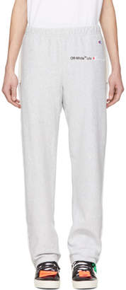 Off-White Off White Grey Champion Edition Sweatpants