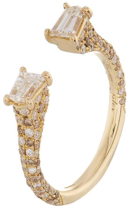 Yellow Gold Diamond Bullet Ring