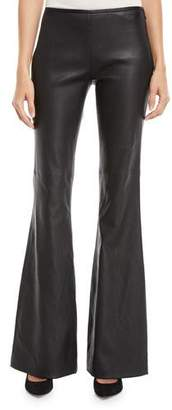 Michael Kors Flared-Leg Plonge Leather Pants