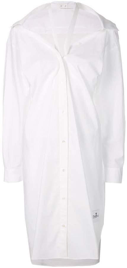 neck strap shirt dress