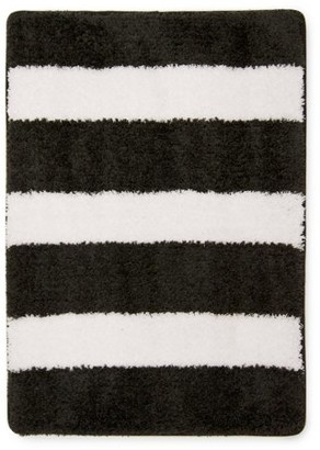 Mainstays True Color Memory Foam Bath Rug, Rich Black