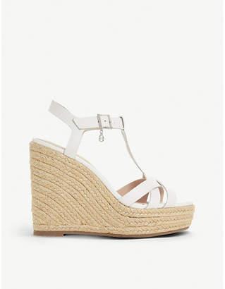 Dune Kaylaa leather wedge sandals