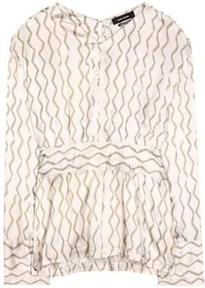Isabel Marant Siasi printed silk-satin blouse