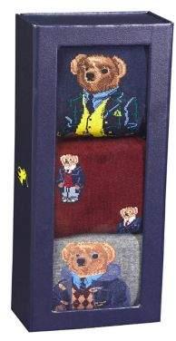 Polo Ralph Lauren Three-Pair Gift Box Preppy Bear Socks
