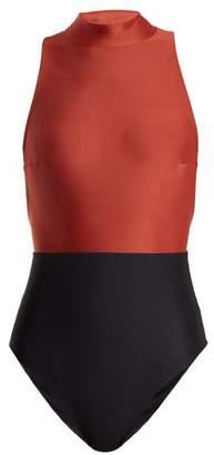 Haight - Kate High Neck Swimsuit - Womens - Black Multi