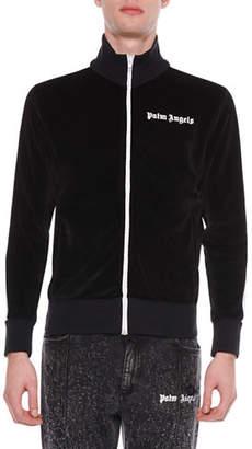 Palm Angels Men's Chenille Zip-Front Track Jacket