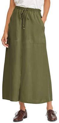 Lauren Ralph Lauren Straight Twill Maxi Skirt