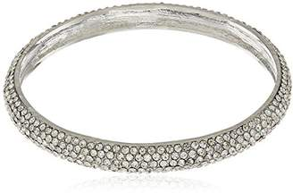 Nina Spring 17 Rhodium Pave Bangle Bracelet