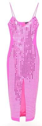 David Koma Sleeveless wool crêpe dress