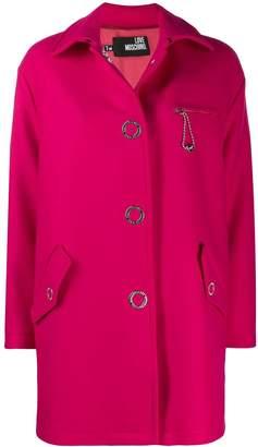 Love Moschino oversized midi coat