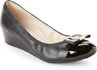 Cole Haan Black Emory Bow Wedge Pumps