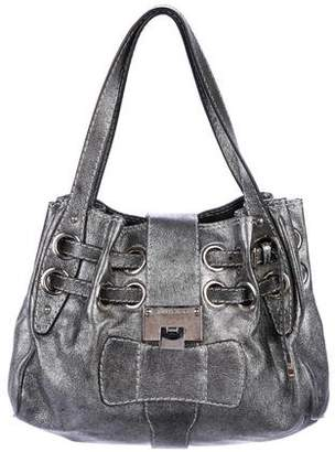Jimmy Choo Metallic Leather Tote