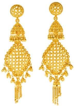 22K Tassel Drop Earrings