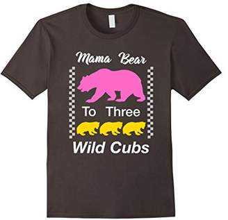 Mama Bear To Three Wild Cubs Shirt