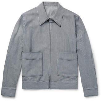 Kent & Curwen Striped Cotton Blouson Jacket