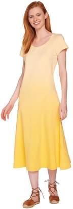Halston H By H by Regular Short Sleeve Dip Dye Knit Midi Dress