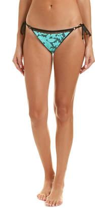 Nanette Lepore Jade Jacquard String Bikini Bottom