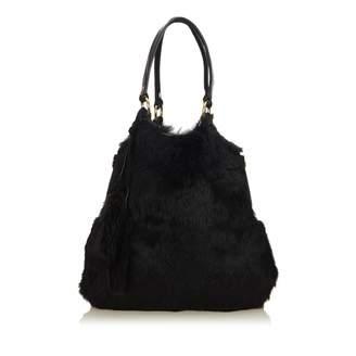 Saint Laurent Black Fur Handbag