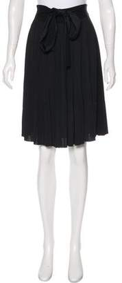 Louis Vuitton Bow-Accented Knee-Length Skirt