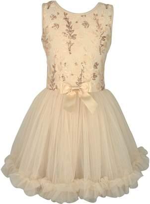 Popatu Flower Sequin Dress