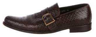 Dolce & Gabbana Embossed Buckle-Accented Loafers