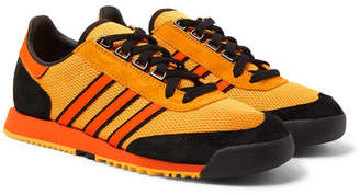 adidas Consortium Consortium - SPEZIAL SL80 A Suede and Leather-Trimmed Mesh Sneakers - Men - Saffron