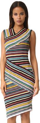 Milly Directional Stripe Sheath Dress $385 thestylecure.com
