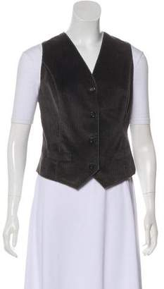 Dolce & Gabbana Corduroy Button-Up Vest w/ Tags