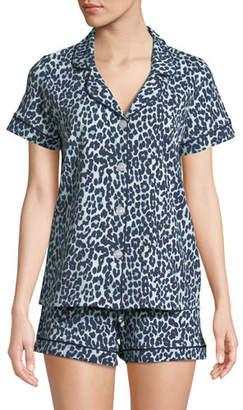 BedHead Cheetah Knit Shortie Pajama Set
